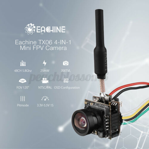 Eachine TX06 700TVL FOV 120 Degree 5.8Ghz 48CH Smart Audio Mini FPV Camera  .☆a