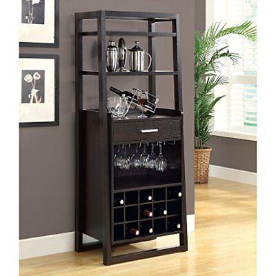 Liquor Cabinet Home Mini Bar Rack Corner Pub Wine Storage Furniture Ladder Style Ebay