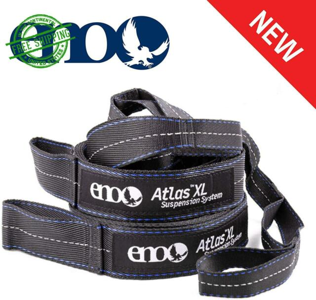 New Black//Royal ENO Atlas Hammock Suspension System Straps