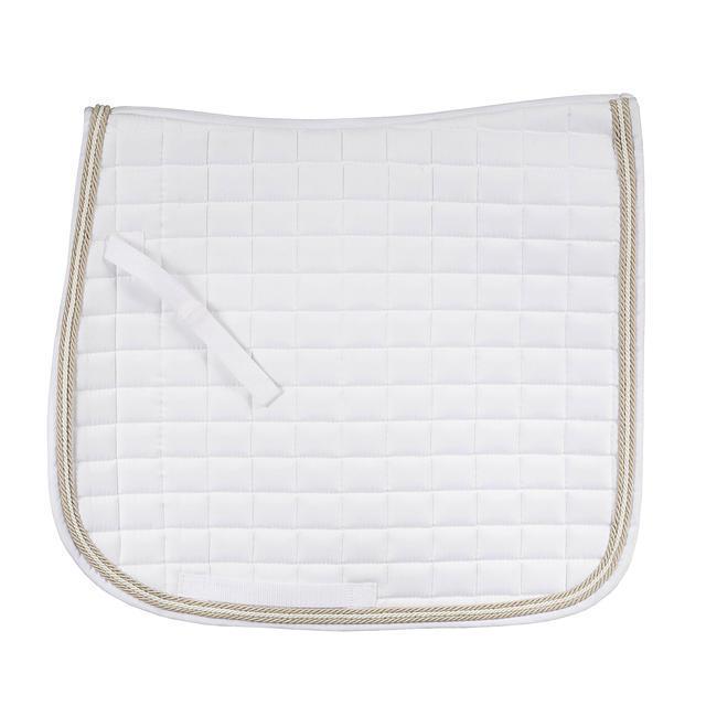 Horze Windsor Dressage Saddle Pad - White - Full Size