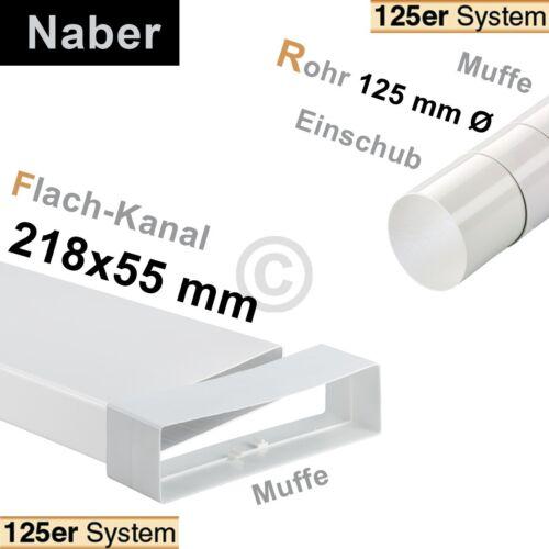 Flachkanalbogen 125erF Naber 4021045 flexibel 180-550mm beidseitig Muffe zu 218x