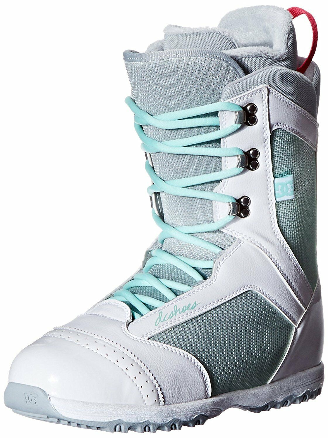 NEW DC Women's Karma 13 Snowboard Boot,White Grey,5 M US Snow Boots Lined