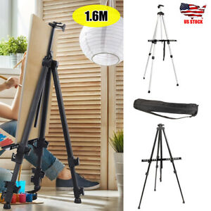 Adjustable Folding Artist Poster Stand Aluminium Alloy Display Easel + Carry Bag
