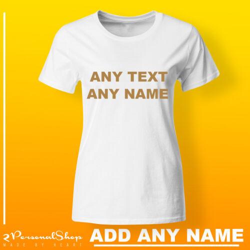Custom Printed T Shirt Personalised T Shirts Ladies Printed Tee Mom Any Text