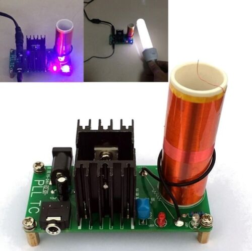 15W Mini Tesla Coil Plasma Speaker Set Electronic Field Music Project Parts K9