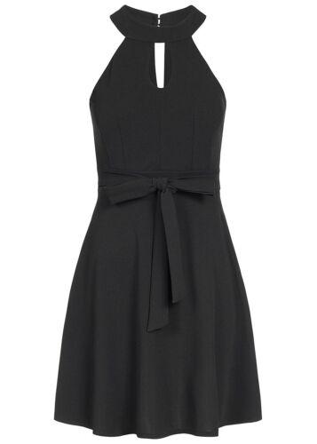 50/% OFF B18037253 Damen Violet Kleid kurz Chocker Kleid Brustpads Zipper schwarz