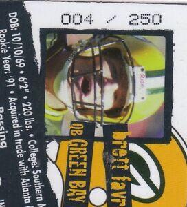 1996-Collector-039-s-Edge-Holofoil-PB-82-Brett-Favre-004-250-HIS-JERSEY-NUMBER-24K