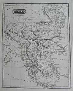 Details about 1850 TURKEY IN EUROPE MAP LIZARS