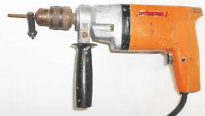 GDR-Handbohrmasche-Hbm-480-1-VEB-Elekrowerkzeuge-Sebnitz-220-V-500-U-Min