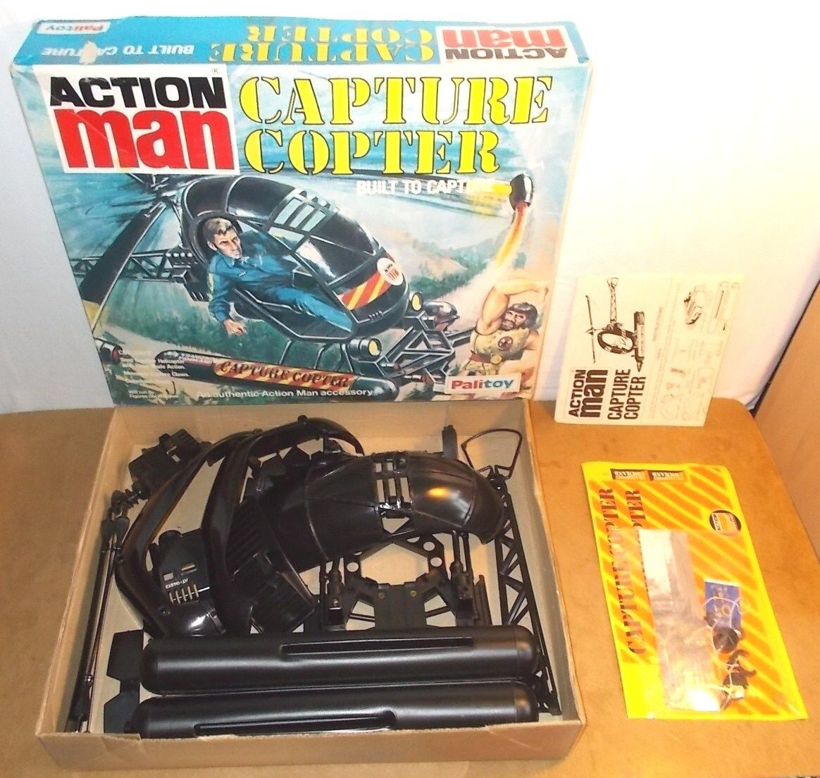 RARE vintage palitoy ACTION MAN - CAPTURE COPTER unbuilt in box with stars - 70s