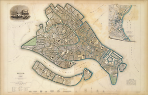 Venezia City Europe Venice Extreme Definition PDF Italy 1838 Antique Old Map