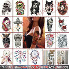 3D Temporary Tattoos Stickers Waterproof Removable Back Fake Rose 300 Patterns
