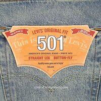 Levis 501 Shorts Original Mens Light Blue Size 38 Button Fly Straight Leg Levi's on sale