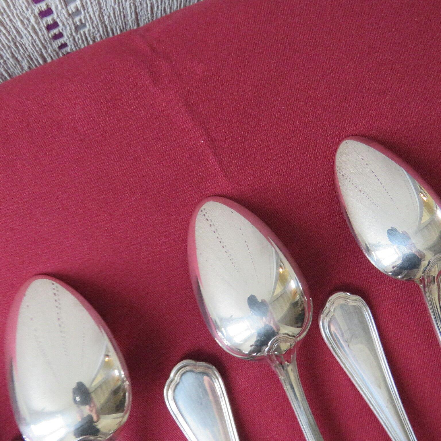 CHRISTOFLE     12 cuillères à soupe en métal Silberé modèle spatours 1e99e5