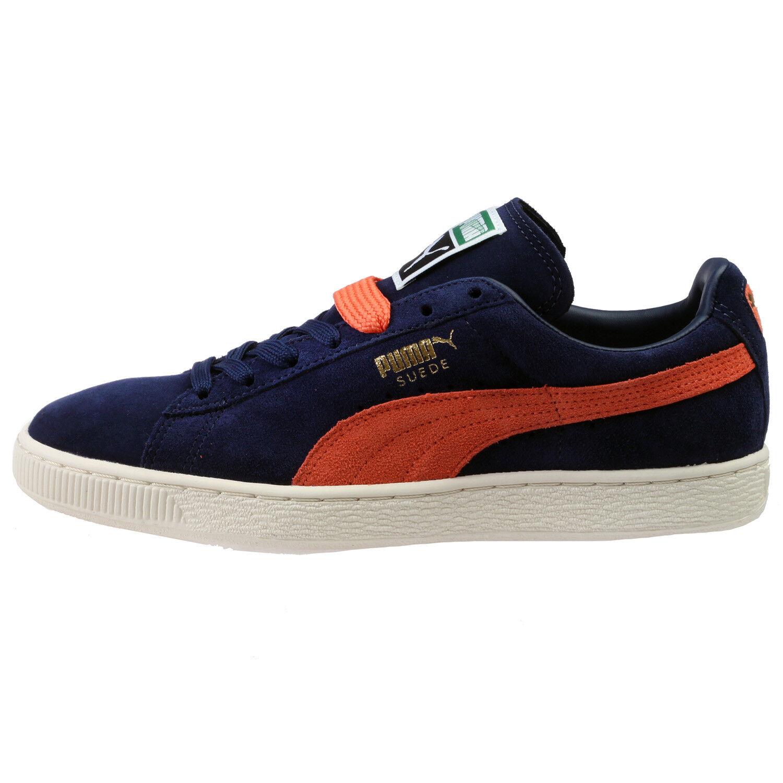 PUMA SUEDE CLASSIC+ - Zapatillas casual para hombre y mujer, color azul oscuro