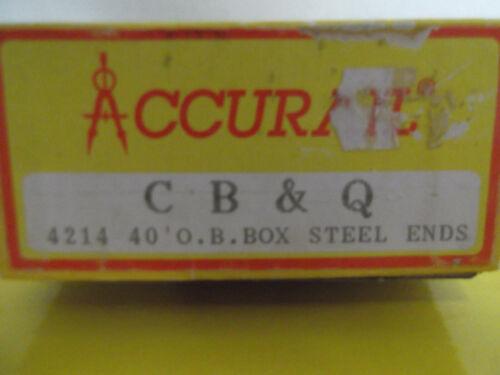 40/' O.B Box Steel Ends Car  1970/'s  Accurail USA HO-KIT
