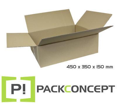 Faltkarton 1-wellig 450 x 350 x 80 mm; Karton; Pappkarton; Versandkarton