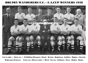 image is loading bolton wanderers f c team print 1958 fa cup