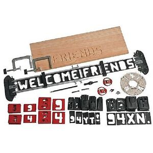 Craftsman sign pro router kit wood working templates for Router templates for signs