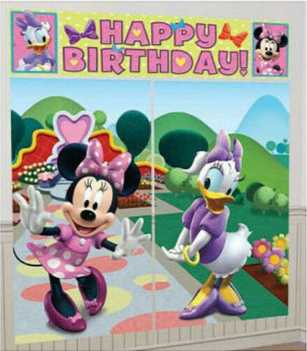 Disney MINNIE MOUSE /& Daisy Duck Scene Setter birthday party wall photo backdrop