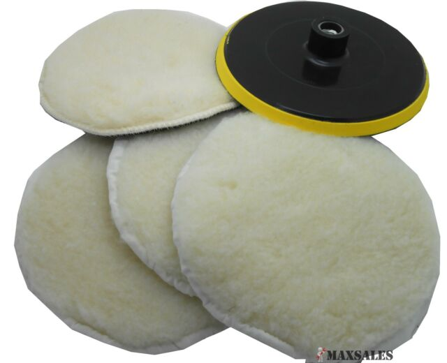 """7"""" POLISHER/BUFFER SOFT WOOL BONNET & PAD with HOOK & LOOP for POLISHING/BUFFING"""