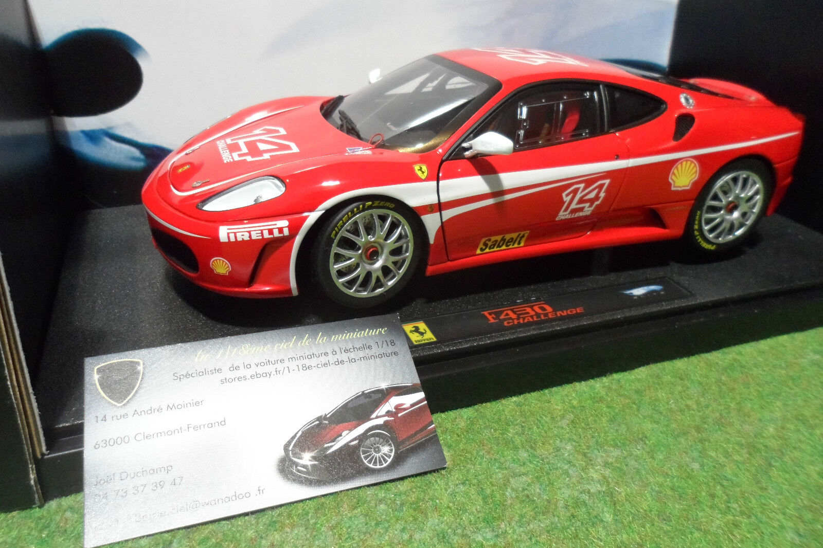 FERRARI F430 CHALLENGE red au 1 18 d ELITE HOT WHEELS MATTEL J2923 voiture