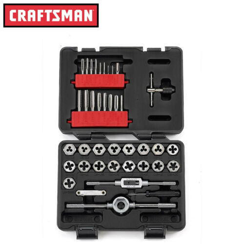 Model 52383 FREE SHIPPING Craftsman 39 pc Piece Metric Tap and Die Set New