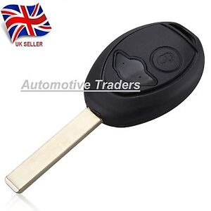 New-2-Button-Remote-Key-Fob-Case-Uncut-Blade-For-BMW-Mini-Cooper-logo-A22
