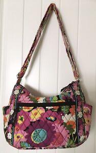 Vera-Bradley-On-The-Go-Crossbody-Bag-Purse-Va-Va-Bloom-2013-Floral-Pinks-Fushia