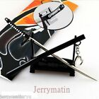 Bleach Key Chain Ulquiorra Katana Metal Sword kurosaki Key Ring Toy cuting model