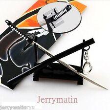 Bleach Key Chain Ulquiorra Katana Metal Sword kurosaki Key Ring Toy cuting model