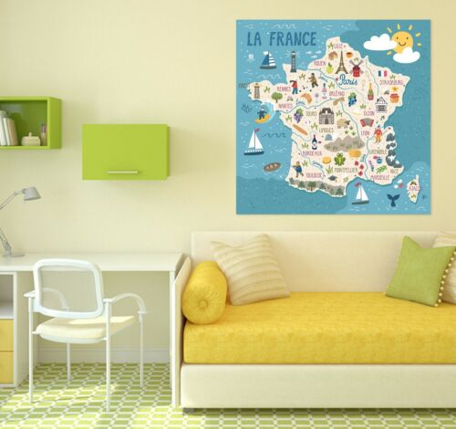 Details about  /3D Pentagram KEP278 World Map Character Wall Mural Decal Stickers Poster Kay