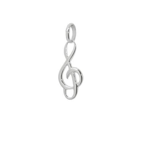 Notenschlüssel Kettenanhänger 925 Sterlingsilber Violinschlüssel 15mm Musik 9115
