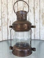Iron Ship Lantern ~ Antique Finish ~ Nautical Maritime Oil Lamp Light