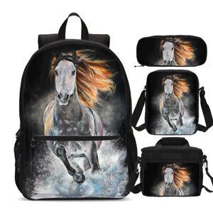 Harry Potter Hogwarts Teens Backpack Insulated Lunch Box Cross Bag Pen Case Lot