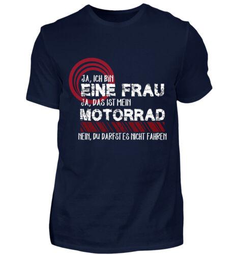 Damen T Shirt Ja Ich habe ein Motorrad Geschenk Freundin Frau Spruch Lustig
