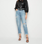 New Look Pale Blue Ripped Tori Mom Jeans Size UK12 Extra Short BNWT