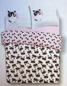 neu grumpy cat katze bettw sche set doppel wendebettw sche duvet 200x200 primark. Black Bedroom Furniture Sets. Home Design Ideas