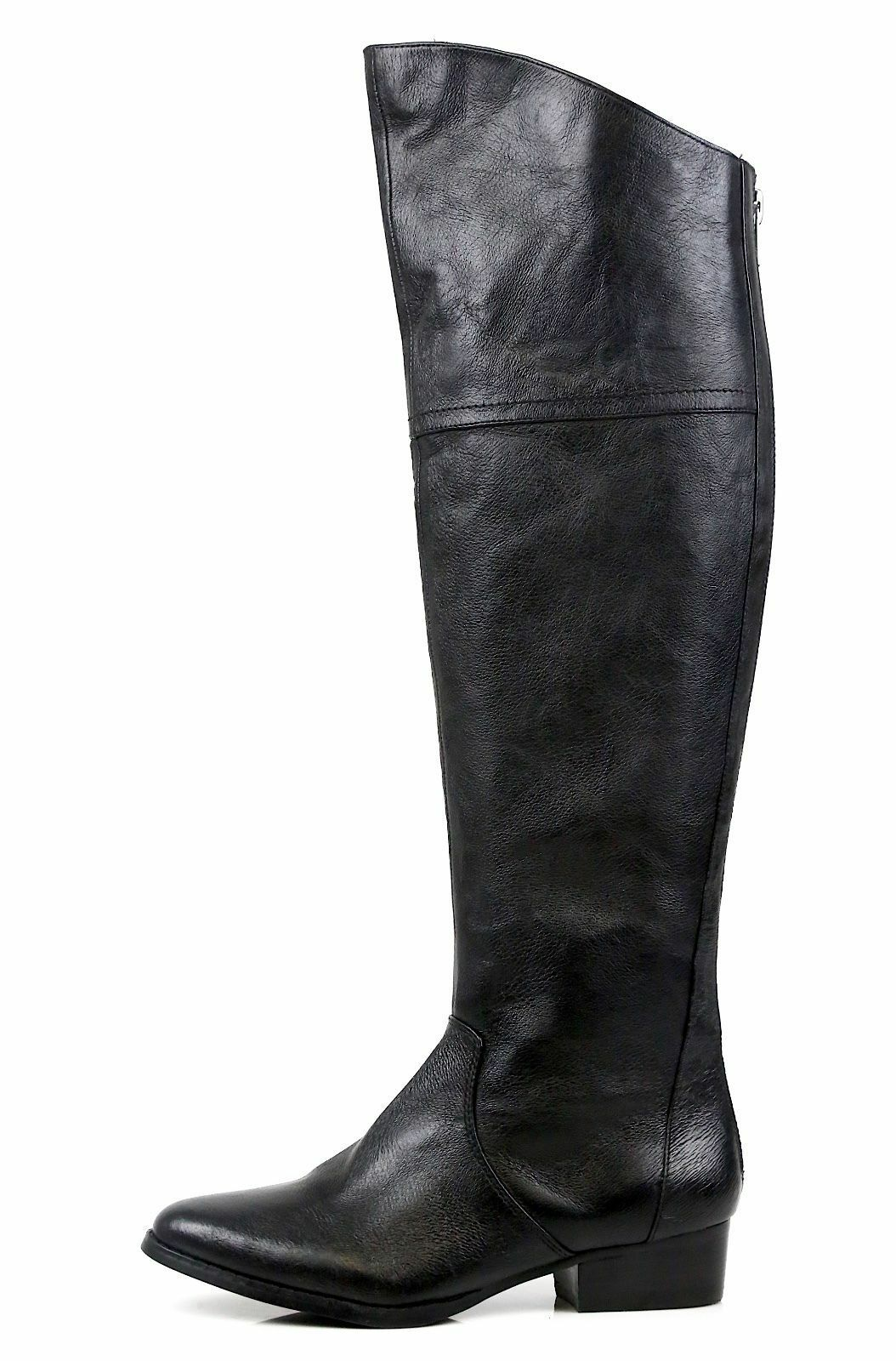 2aa81f2d575 Buy Steve Madden Koma Over The Knee Black Leather BOOTS Size 5.5 M ...