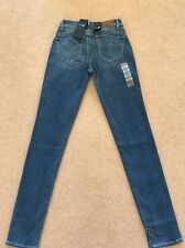 NEW Women's Levis Revel Mid Rise Skinny Stretch Jeans W25 L32 (1110)