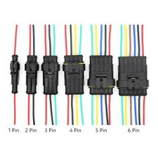 1 6 Pinway Waterproof Malefemale Connectors Attached Wire Cable Plug Sealed