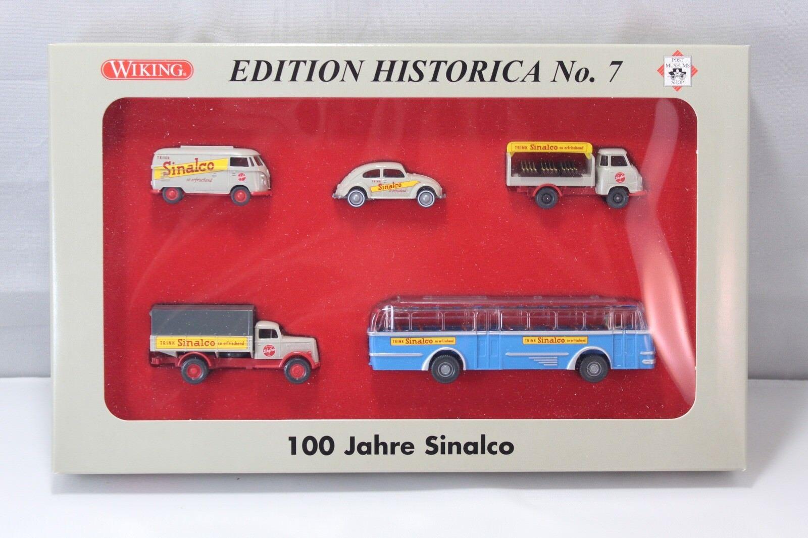 Wiking 1 87 - Set 100 anni Sinalco ed. Historica n. 7-PMS 81-27 - SCATOLA ORIGINALE -  341