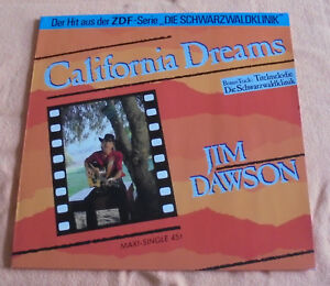 12-034-Maxi-Jim-Dawson-California-Dreams-Mint-ungespielt-Ariola-609-289-Rar