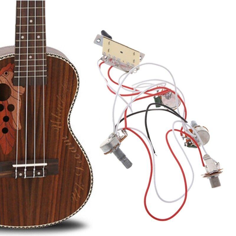 guitar wiring harness pickup 1v2t 5 way switch 500k pots jack for fender strat  1set wiring harness guitar wiring