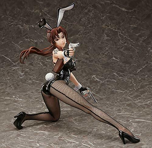 Black Lagoon Revy 1/4 PVC Bunny Figure from japan FREEing authentic