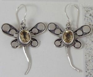 Gemstone-Solid-Silver-925-Bali-Handcrafted-Dragonfly-Earring-23876