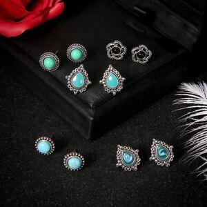 5Pairs-Set-Women-Fashion-Turquoise-Earrings-Jewelry-Ear-Stud-Boho-Earrings-Gift