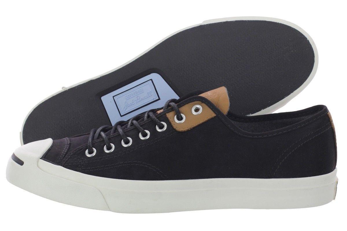Hombre Converse buey Jack Purcell Jack LTT buey Converse Informal Zapato, 144389C Tallas 813 Negro/Des 5a0df2