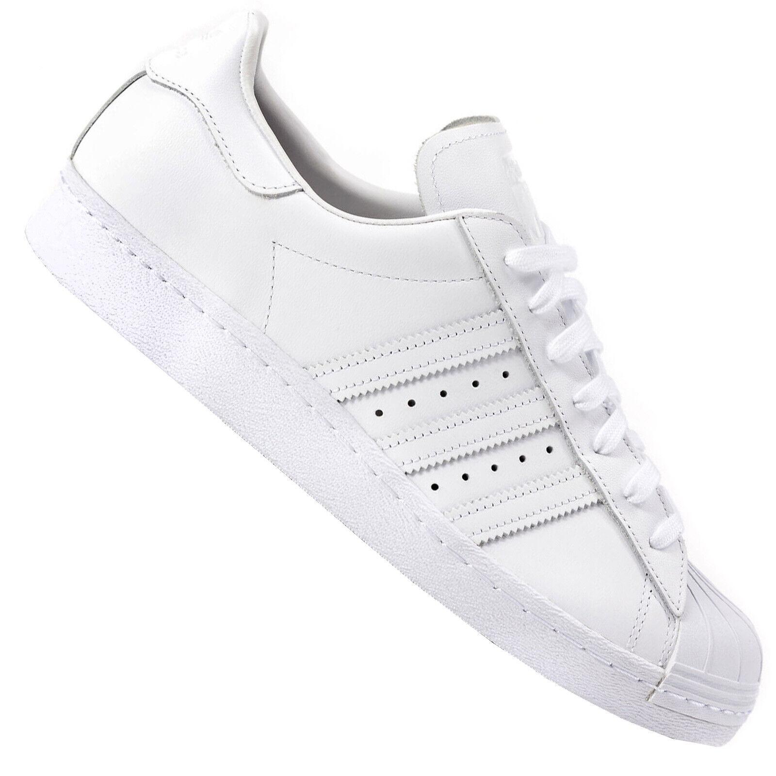 Adidas Originals Superstar 80s Herren Turnschuhe Turnschuhe S79443 CleanWeiß Weiß