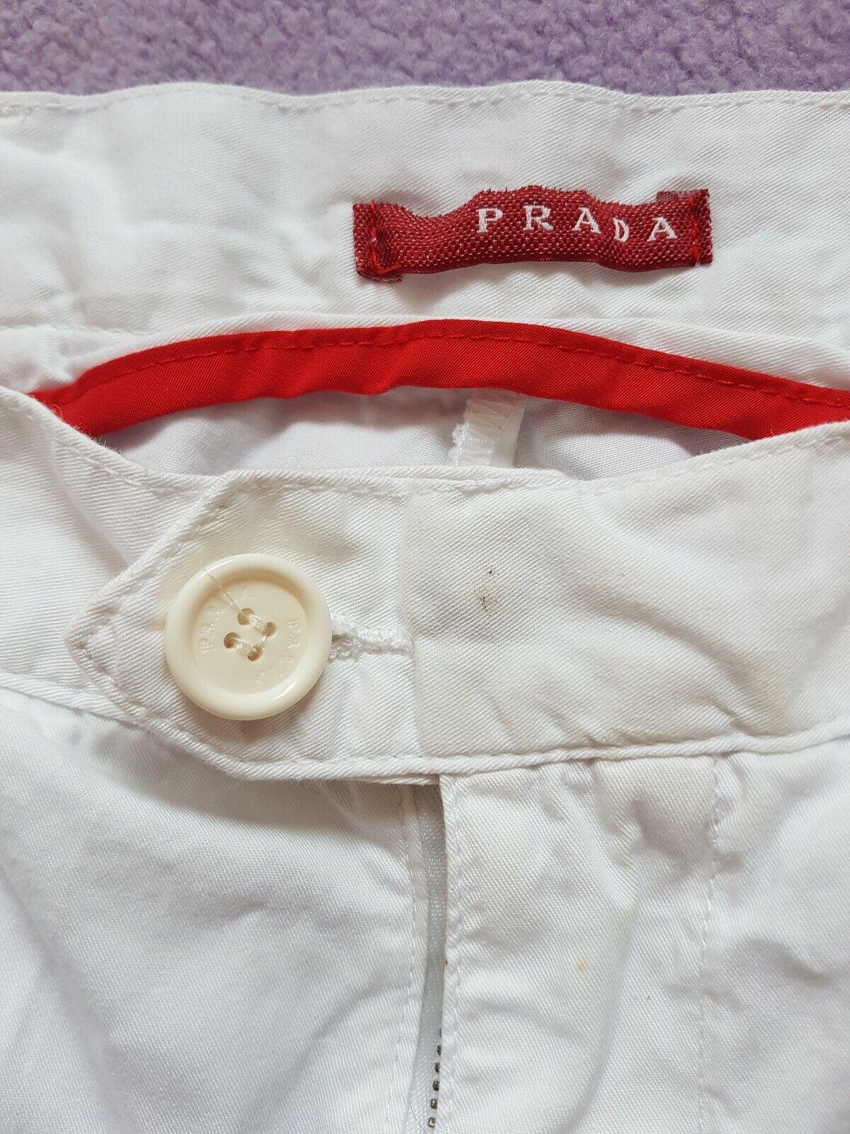 Mens PRADA  Bermuda cargo cotton 3 4 length shorts W32 . Immaculate RRP